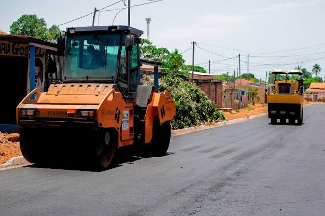 Seminfra: Mais ruas dos bairros Uruará, Caranazal e Salé recebem asfalto