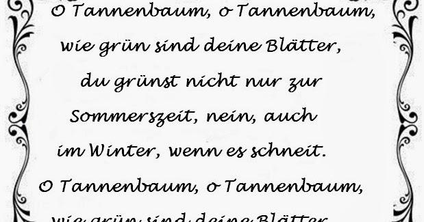 Tannenbaum Lied.Ein Kleiner Blog O Tannenbaum O Tannenbaum