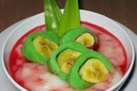 Resep Membuat Es Pisang Hijau Makassar