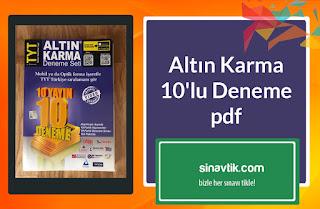 Altın Karma 10'lu Deneme pdf