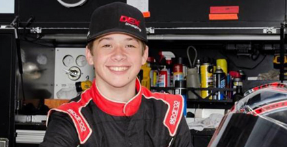 Harrison Burton at All American Speedway in Roseville, California  Courtesy of Jeff Burton Autosports