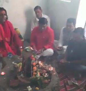 मंत्री श्री कावरे ने शिवरात्रि पर भमोडी घाट में किया पूजन अर्चन