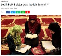 Lebih Baik Belajar atau Ibadah Sunnah? - Kajian Sunnah Tarakan