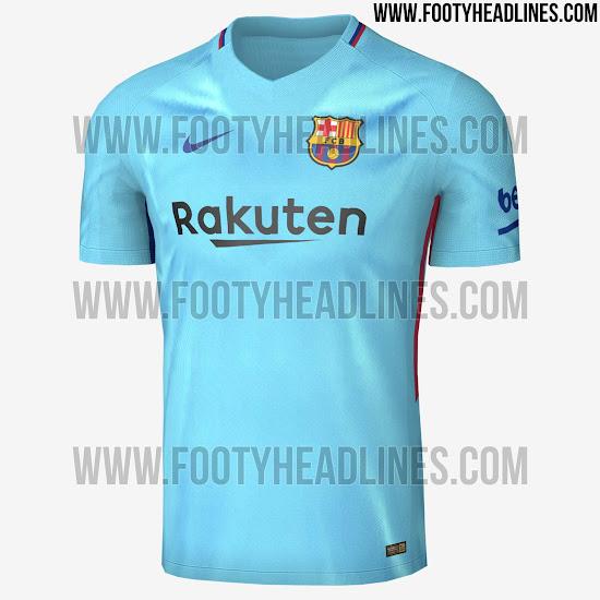 fc barcelona camiseta suplente 17 18