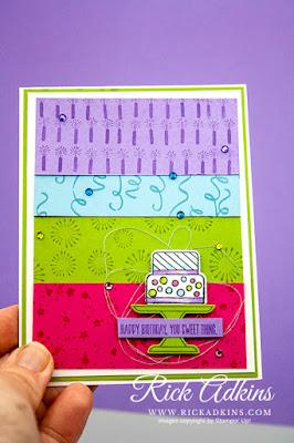 Piece of Cake Stamp Set, Birthday Background Stamp Set, Cake Builder Punch, Rick Adkins, Stampin' Up!