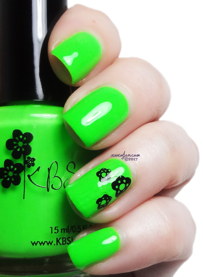 xoxoJen's swatch of KBShimmer Race Against Slime