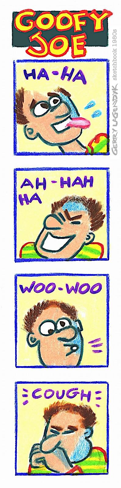 Goofy Joe, an auditioning cartoon character