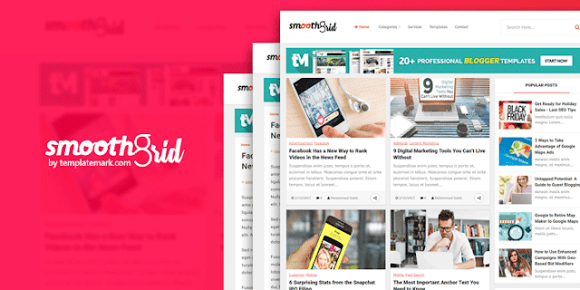 Smooth Grid - Responsive Blogger Template