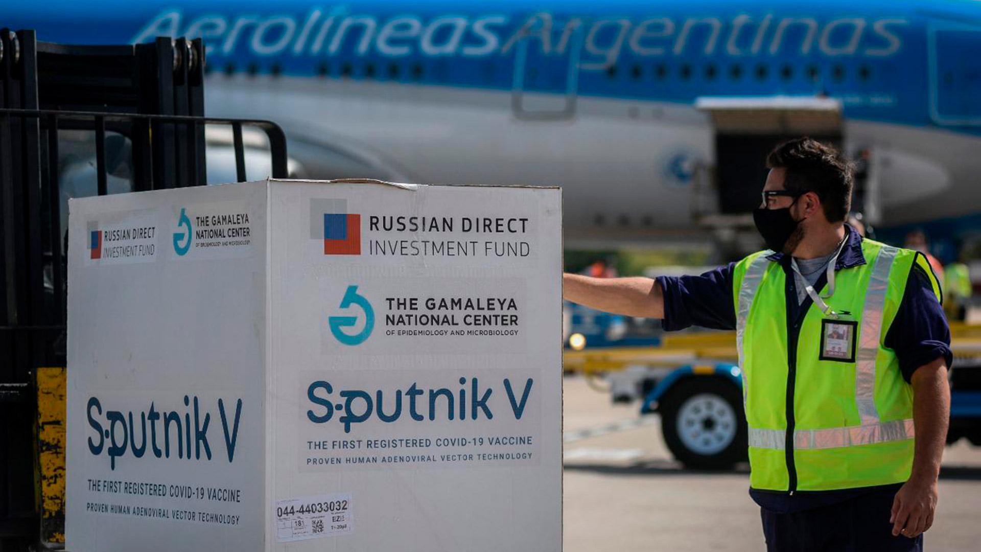 Llegaron a la Argentina otras 500 mil dosis de la vacuna Sputnik V contra el coronavirus