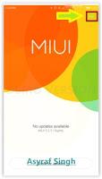 Update System / ROM MIUI On Xiaomi Redmi Note 2 Prime