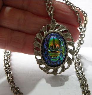 Titanium scarab pendant necklace