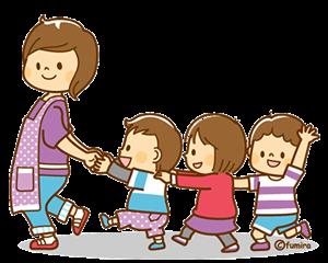 Professora brincando com crianças