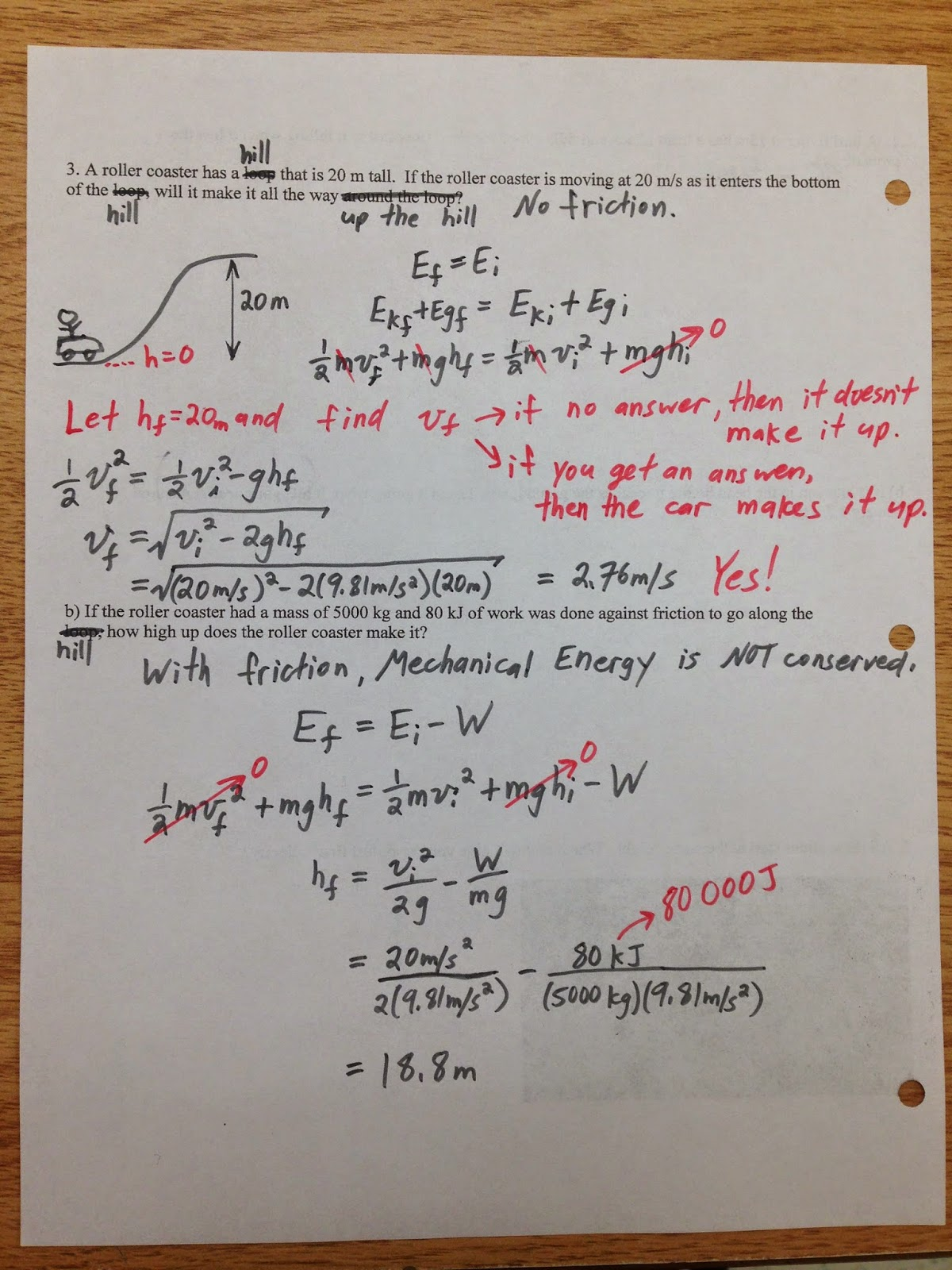 Grade 11 Physics Nov 10 Conservation Of Energy With
