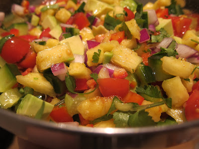 pineapple and avocado salad