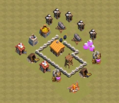 Base COC TH2 War 3