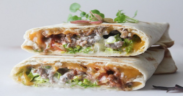 Cheese Burger Wraps Recipe