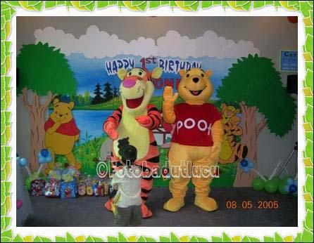 gambar badut ulang tahun tiger dan winnie the pooh