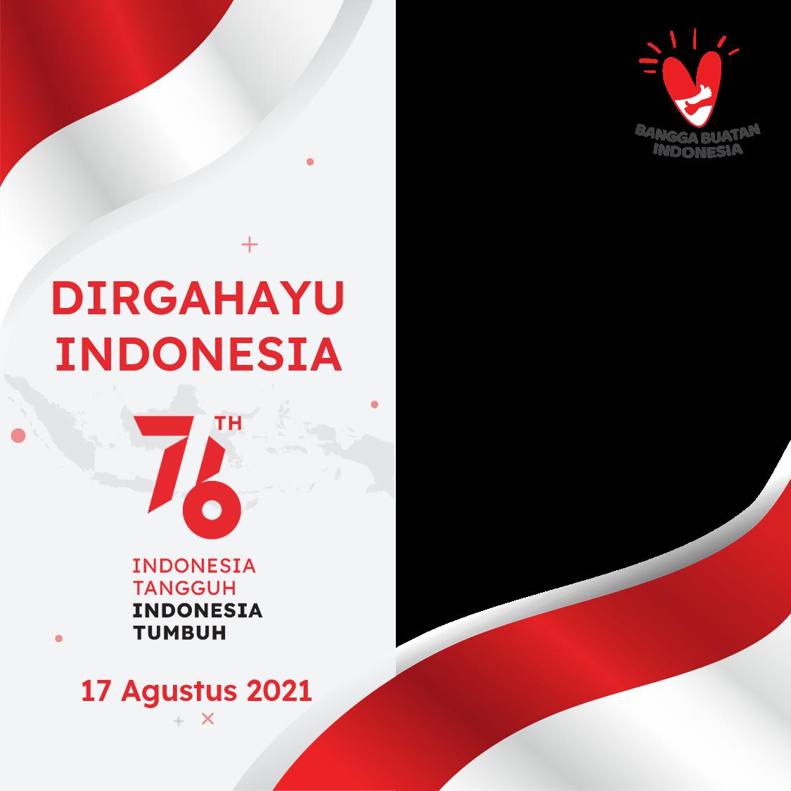 Link Desain Bingkai Foto Twibbon Dirgahayu HUT RI ke-76 Tahun 2021 - Twibbonize