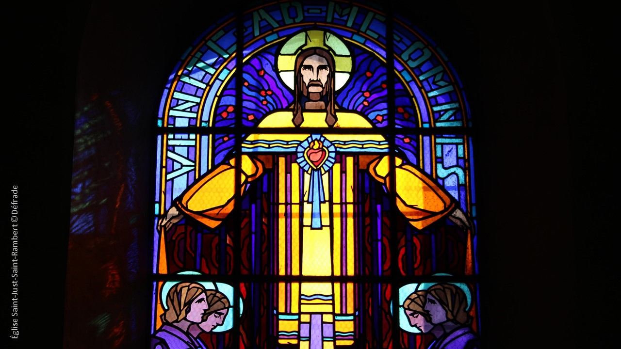 eglise st just st rambert christ - vitrail©defrade