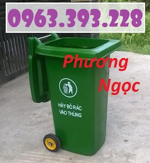 Thùng rác nhựa HDPE 120L, thùng rác công cộng, thùng rác 2 bánh xe 72321749a3c14d9f14d0-3701