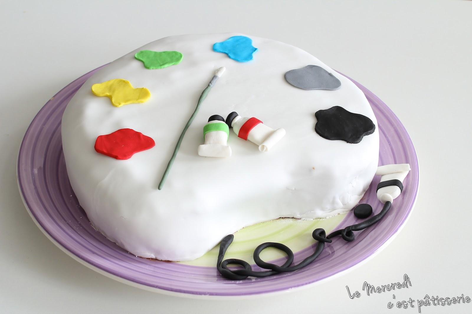 """Gâteau """"Palette du peintre"""""""