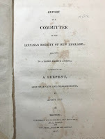 Title page of the Gloucester sea serpent report.