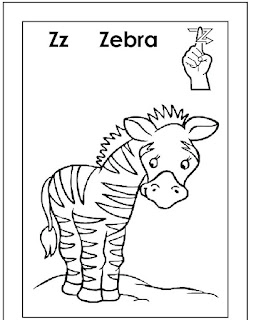 Zz For Zebra Coloring Pages Alphabets