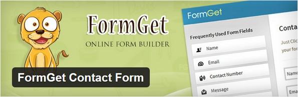 FormGet Contact Form plugin for WordPress
