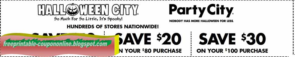 Party city coupons 2018 november