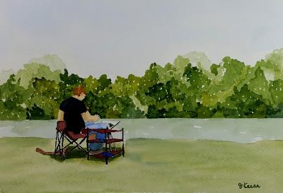 PleinAir Artist Watercolor - John Keese