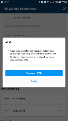 bayar hotel traveloka via atm bri