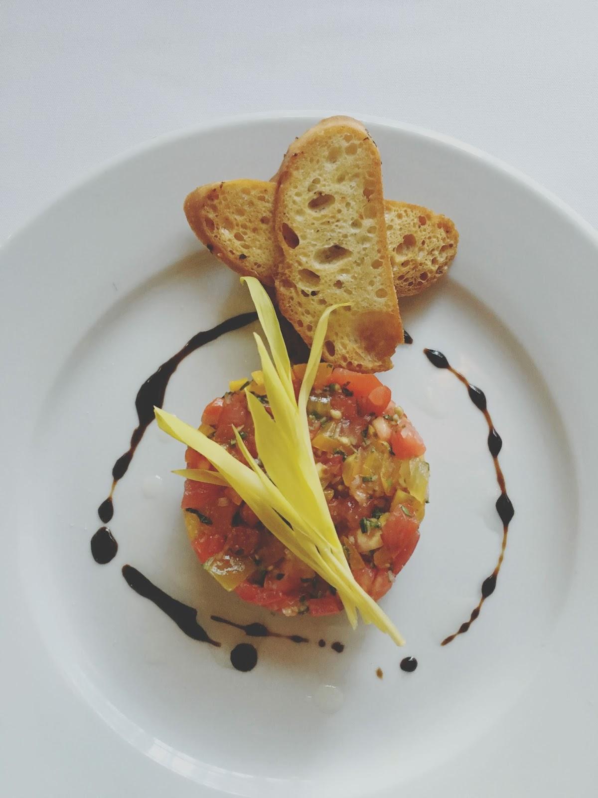 tomato tartare at Eddie V's - A restaurant in Houston, Texas