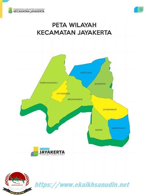 Peta Kecamatan Jayakerta