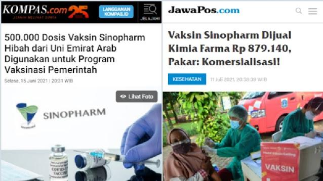 Nah! Sebagian Vaksin Covid yang Dijual Kimia Farma Diduga Hibah dari Negara Arab