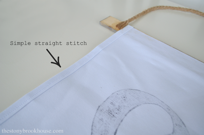 simple straight stitch on sides