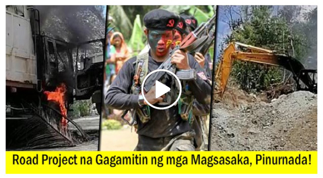 NPA, Sinunog ang P5.9 Milyong Equipments sa Road Project!