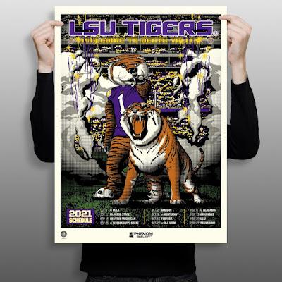 LSU Tigers 2021 Football Schedule Screen Print by Anthony Zych x Phenom Gallery