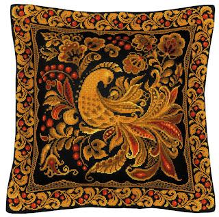 Скачать схему вышивки Riolis 1758 Подушка/панно «Хохлома»