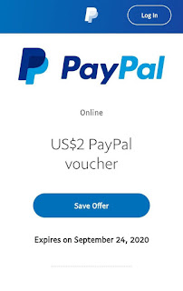 PayPal offer - Free $2 Gift Voucher on $5 Transaction