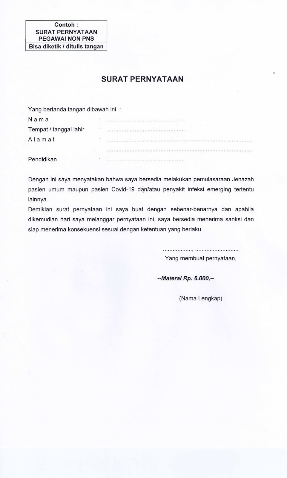 Pengadaan Pegawai Non PNS RSUD Tidar Kota Magelang