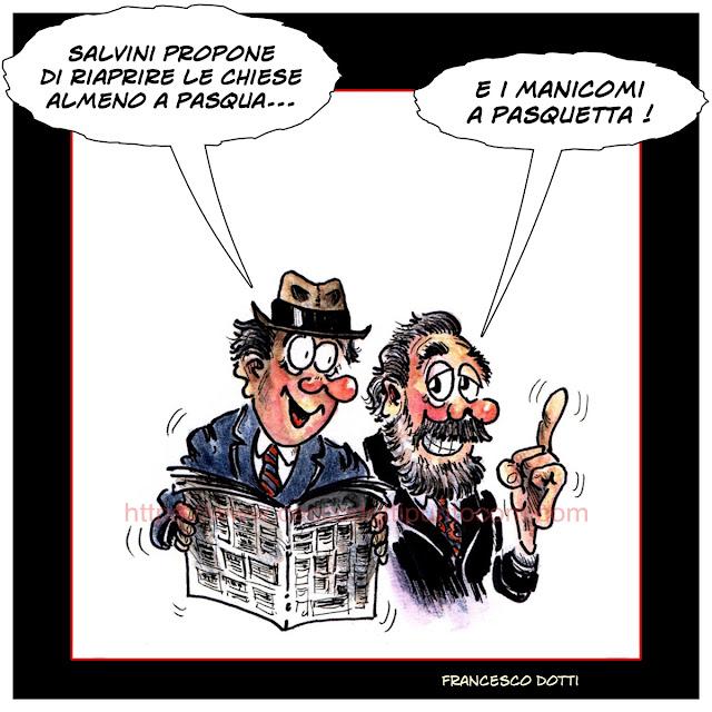 Salvini aprire le chiese a Pasqua