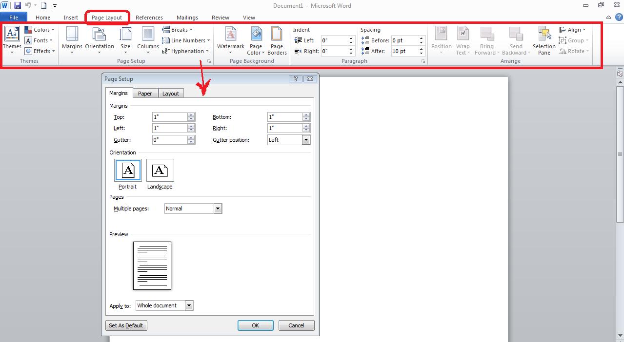 KARACHI: Microsoft Word 2010 -Training- PAGE LAYOUT