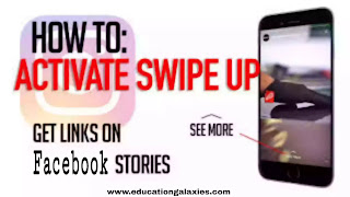 how to add swipe up link on Facebook story