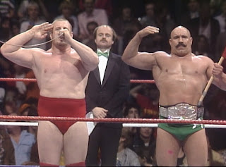 WWE / WWF Saturday Night's Main Event 1 (1985) - The Iron Sheik and Nikoali Volkoff teamed with George Steele in the opening match