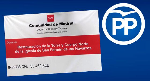 La Comunidad de Madrid subvenciona la restauración de una Iglesia con placas franquistas