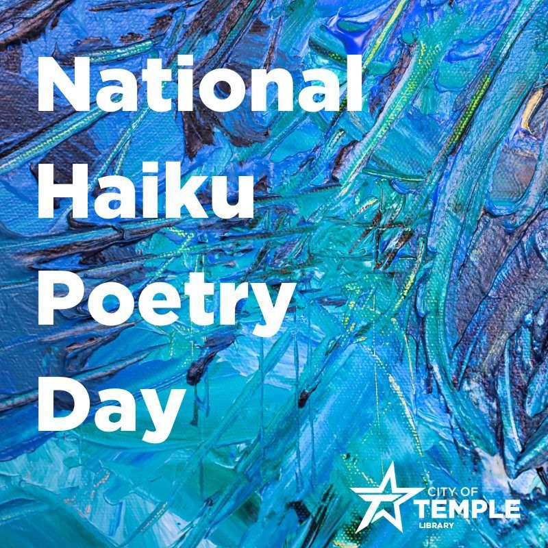 National Haiku Poetry Day Wishes Beautiful Image