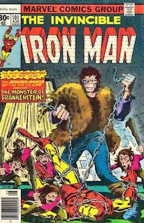 August 1977 Part Two Iron Man Battles The Frankenstein Monster