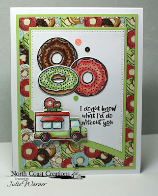North Coast Creations Stamps and Dies: Sprinkled with Love, Paper Collection: Sweet Shoppe, Our Daily Bread Designs Custom Dies: Pierced Rectangles, Double Stitched Rectangles, Rectangles, Leafy Edged Borders