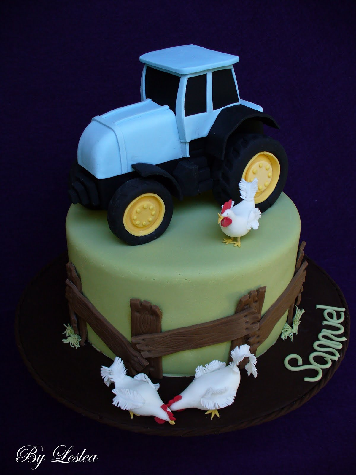 Leslea Matsis Cakes Sam S Tractor Cake