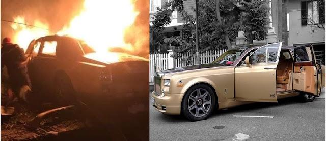 Chủ nhân đại gia xe tô tô sang Rolls-Royce cháy rụi ở Quảng Ninh là ai?